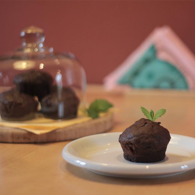 Čokoládové muffiny sgréckym jogurtom