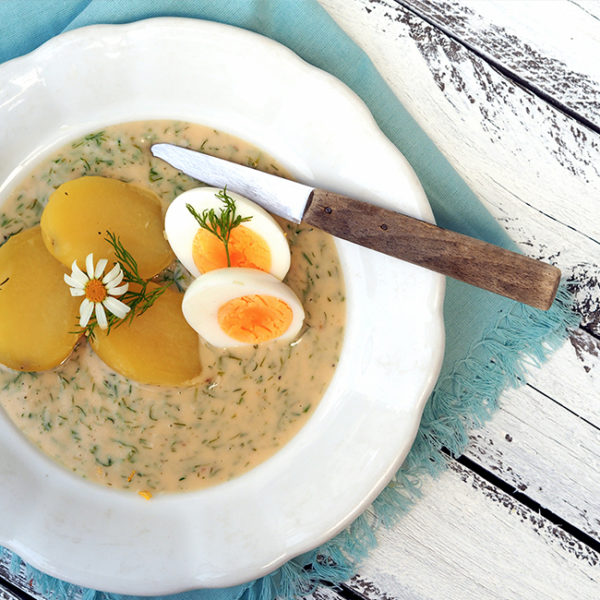 Kôprová omáčka so zemiakmi