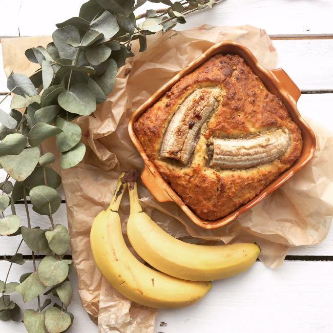Celozrnný banana bread sorechmi