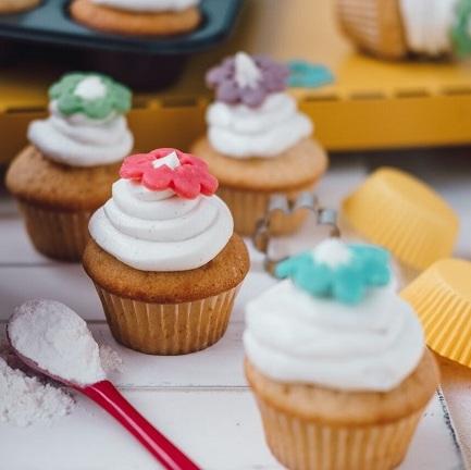 Cupcakes stvarohovým krémom
