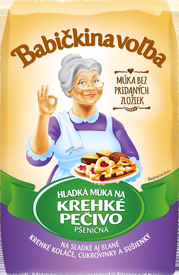 Hladká múka na krehké pečivo pšeničná - Babičkina voľba