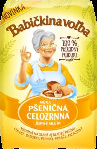 Múka pšeničná celozrnná jemne mletá - Babičkina voľba