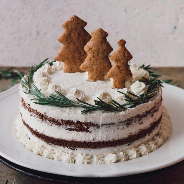 Vianočná torta stvarohovým krémom