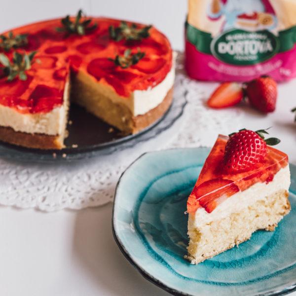 Jahodová torta so želatínou