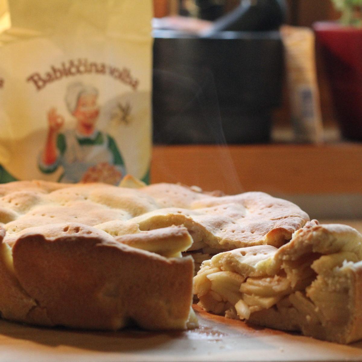 Linecký jablkový koláč zremosky