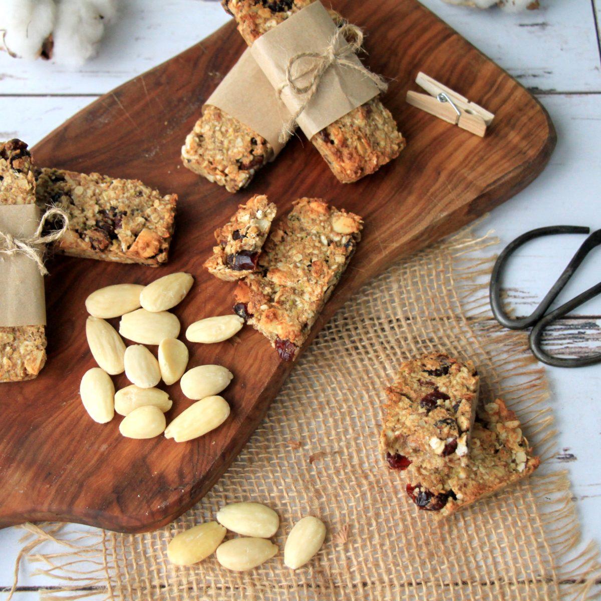 Domáce orechové müsli tyčinky